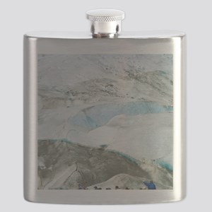 Glacier Approach - Print Flask