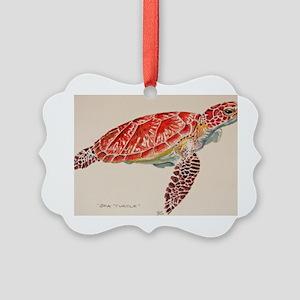 Sea Turtle Picture Ornament