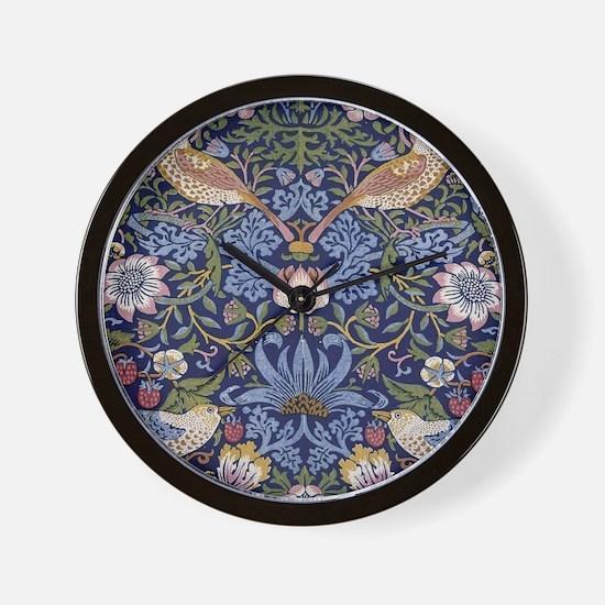 William Morris Strawberry Thief Wall Clock