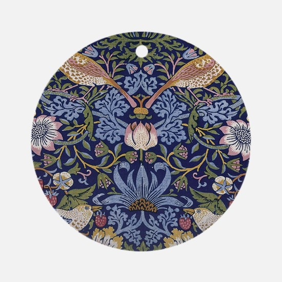 William Morris Strawberry Thief Round Ornament