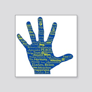 """Hand Affirmations Square Sticker 3"""" x 3"""""""