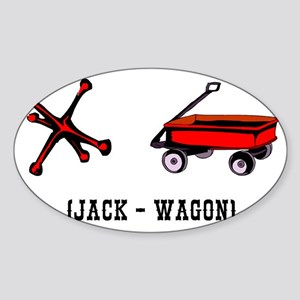 Jackwagon Sticker (Oval)