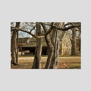 Batsto Horse Barn - Print Rectangle Magnet