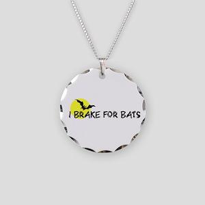 I Brake For Bats Necklace