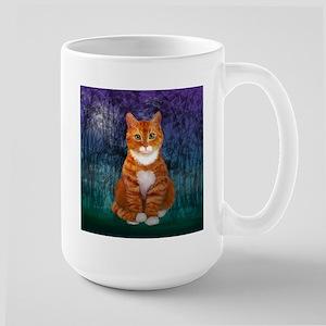 Orange Tabby Cat Snowfl Stainless Steel Travel Mug