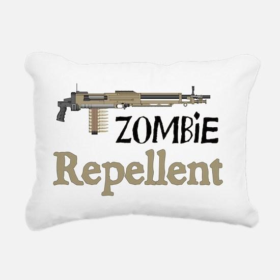 2-ZombieRepellent Rectangular Canvas Pillow