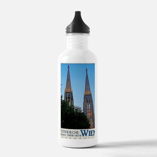 Votivkirche Night Water Bottle