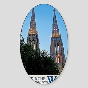 Votivkirche Night Sticker (Oval)