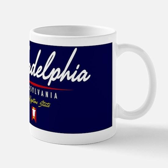 Philadelphia Script Magnet Mug