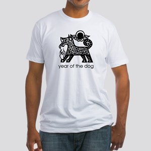 Year of the Dog B and W Fitted T-Shirt