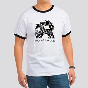 Year of the Dog B and W Ringer T