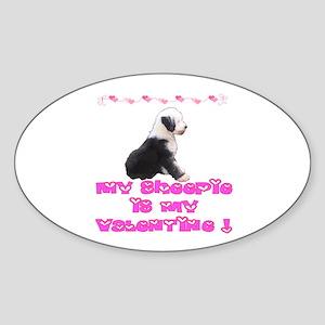 I love my Sheepie Oval Sticker