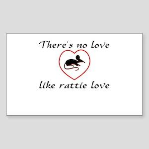 Rat Love Rectangle Sticker