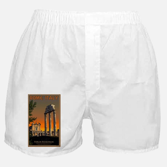 Rome - Temple Ruins in Forum Romanum Boxer Shorts
