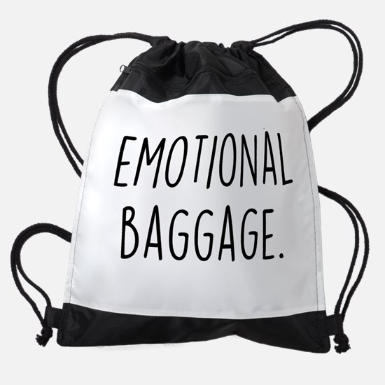 Emotional Baggage Drawstring Bag