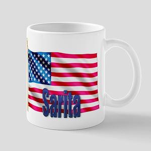 Sarita American Flag Gift Mug