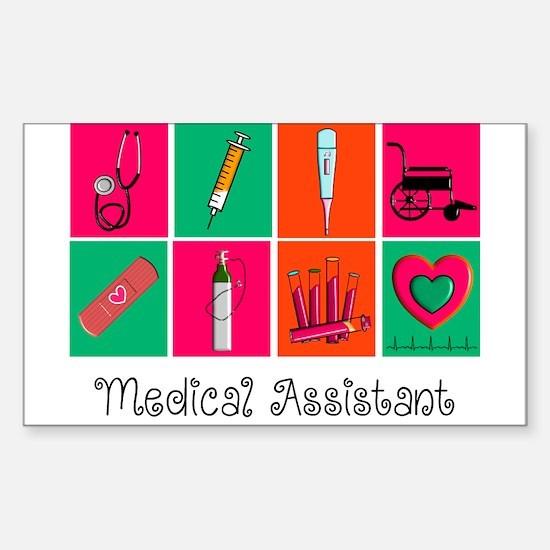 Medical Assistant Pop Art 2 Decal