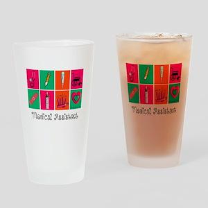Medical Assistant Pop Art 2 Drinking Glass