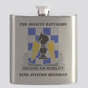 2-82ND AV RGT WITH TEXT Flask