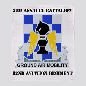 2-82ND AV RGT WITH TEXT Throw Blanket
