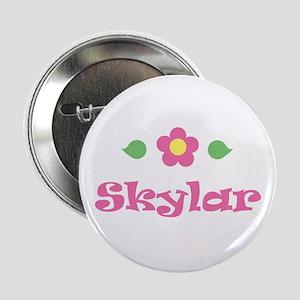 "Pink Daisy - ""Skylar"" Button"