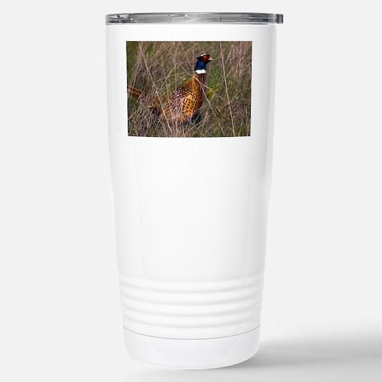 (6) Pheasant  407 Stainless Steel Travel Mug
