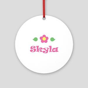 "Pink Daisy - ""Skyla"" Ornament (Round)"