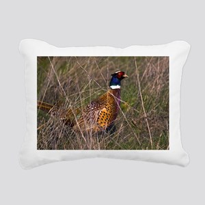 (6) Pheasant  407 Rectangular Canvas Pillow