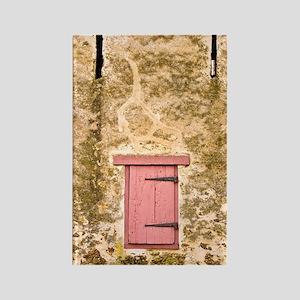 Mule Barn Close - Print Rectangle Magnet