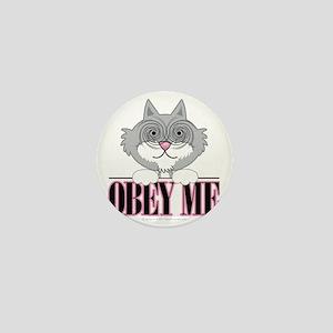 Obey-Me-Cat Mini Button