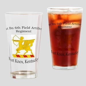 1st Bn 6th FA Drinking Glass