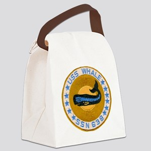 whate patch transparent Canvas Lunch Bag