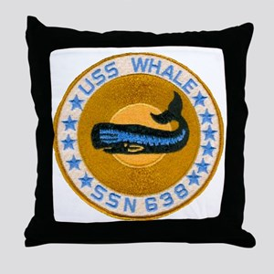 whate patch transparent Throw Pillow