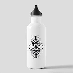 Circle_pocket_black Stainless Water Bottle 1.0L