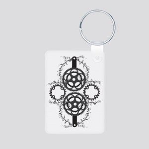 Circle_pocket_black Aluminum Photo Keychain