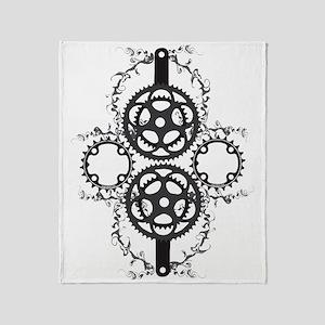 Circle_pocket_black Throw Blanket