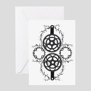 Circle_pocket_black Greeting Card