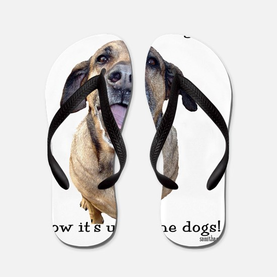2-up to the dogs Flip Flops