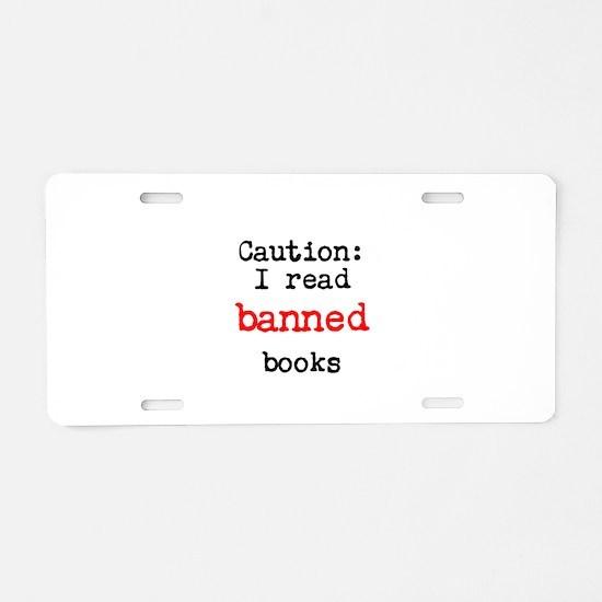 Banned Books Aluminum License Plate
