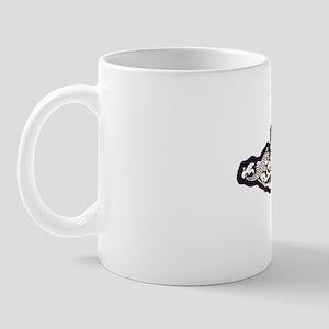 whale white letters Mug