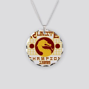 Kumite Necklace Circle Charm