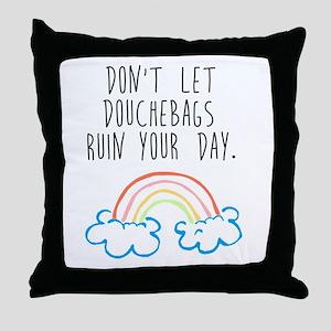 Douchebags Throw Pillow