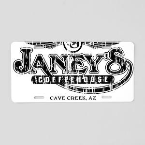 Janeys distressed light t-s Aluminum License Plate