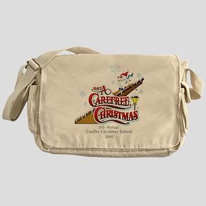 Carefree Christmas design for white Messenger Bag