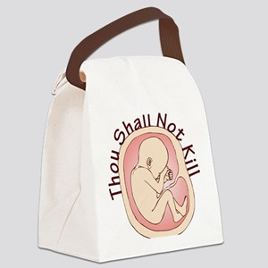 Shall Not Kill Canvas Lunch Bag