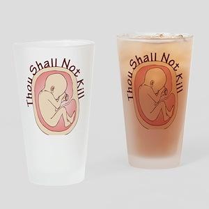 Shall Not Kill Drinking Glass