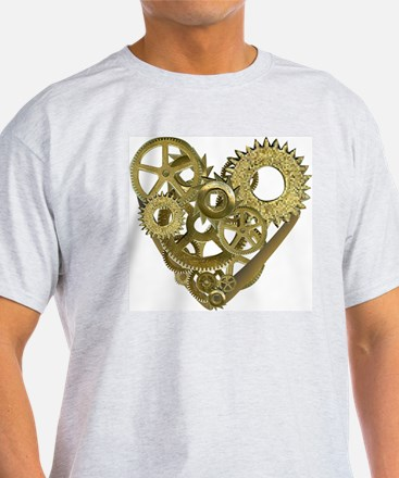 gear heart white T-Shirt