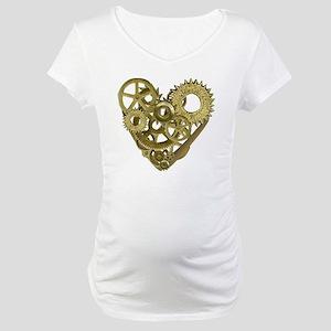 gear heart white Maternity T-Shirt
