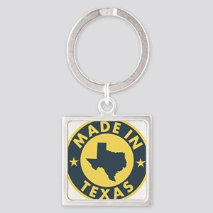 2-Made-In-Texas Square Keychain