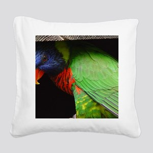 Parrot Calendar Square Canvas Pillow